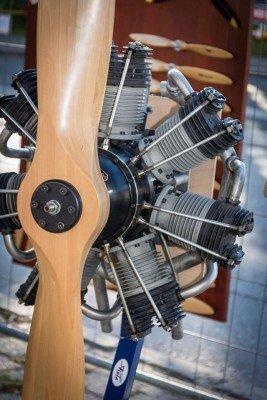 Gernots 800 ccm Sternmotor seiner Fokker