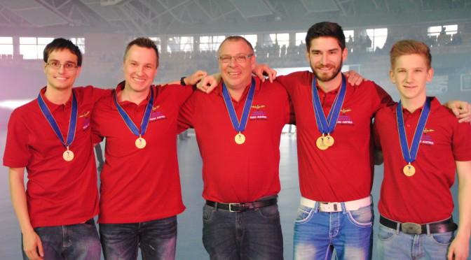 Das Team Österreich mit ihren Errungenschaften