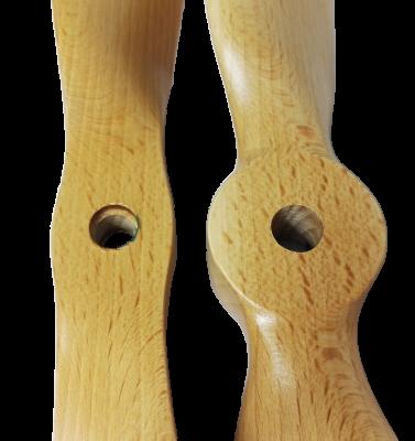 Links: E3 mit kleinerem Kern ; Rechts: Normaler Prop mit größerem Kern