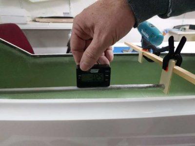 Einmessen des Sturzes mit elektronischer Waage
